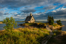 Old Russian Orthodox Wooden Church In The Village Rabocheostrovsk, Karelia