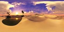 Sandy Desert. Environment Map....