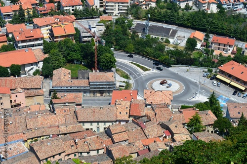 Foto op Aluminium Zalm landscape of San Marino