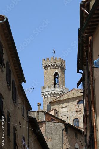 Fotografie, Obraz  Torre del Palazzo dei Priori, Volterra,
