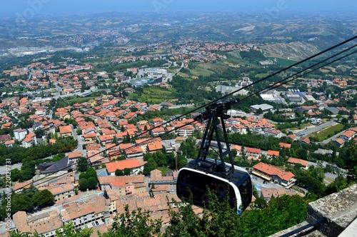 Fotobehang Zalm landscape of San Marino