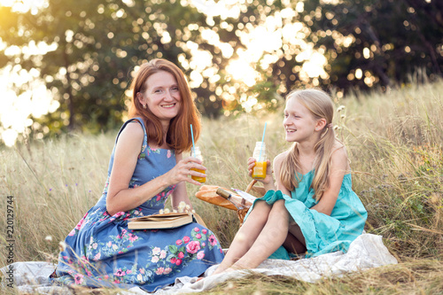 happy family at a picnic