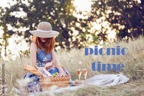 Picnic in the meadow