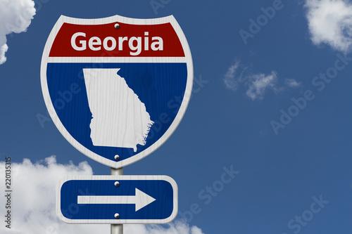 Poster Verenigde Staten Road trip to Georgia