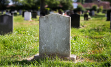 Blank Gravestone With Other Gr...