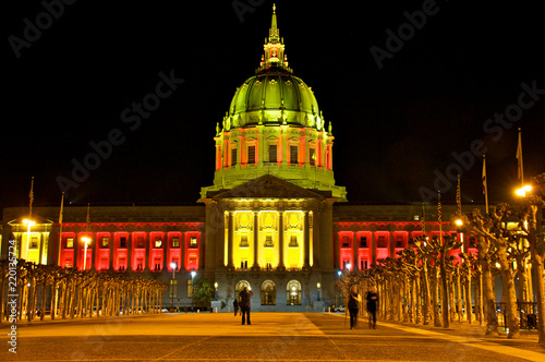 San Francisco City Hall, with 49ers colors Canvas Print