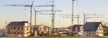 Neubaugebiet Mit Vielen Häuse...
