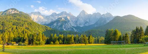 Fototapeta Mountain landscape next to Kranjska Gora in Slovenia obraz