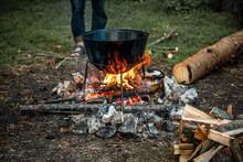 A Cauldron For Cooking Is On T...