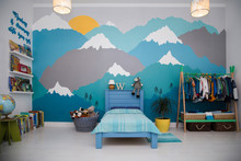 A Spacious Boy Bedroom With A ...