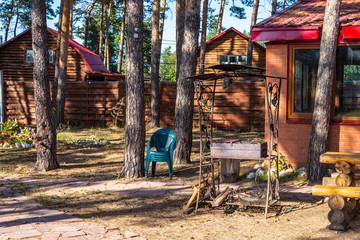 Fototapeta na wymiar recreation center in a pine forest