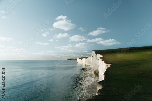 Canvas-taulu White Cliffs, Dover England, Seven Sisters