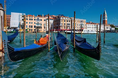 Gondolas in Venice near Piazza San Marco