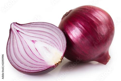 Photo  Fresh onion on white background