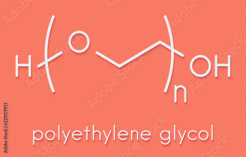 Polyethylene glycol (PEG), chemical structure Canvas Print