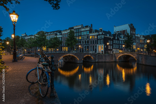Photo  The lonely bike, Amsterdam, Netherlands