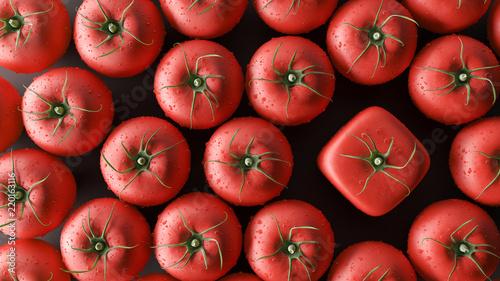 byc-innym-pojeciem-kostki-pomidory-3d-render-3d-ilustracja