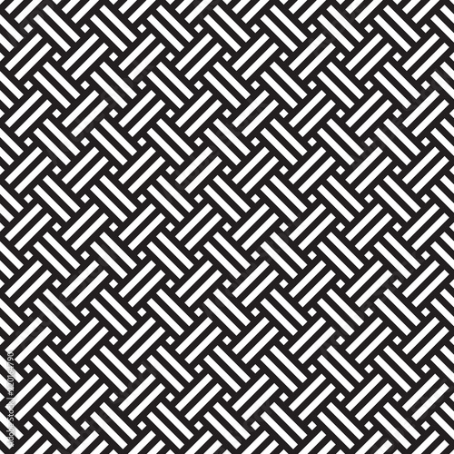 Seamless geometric abstract weave pattern background Canvas Print