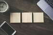 木製テキストスペース 3文字
