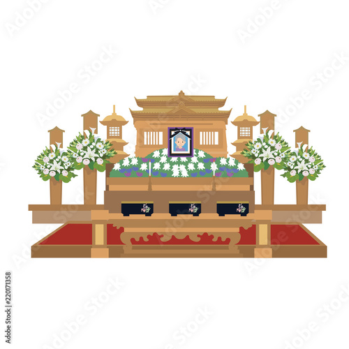 Obraz na plátně 葬儀 祭壇 イラスト