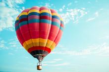 Vintage Colorful Hot Air Ballo...