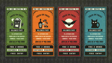 Halloween Invitation Collection Retro Style Collection.
