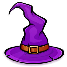 Vector Halloween Witch Hat Des...