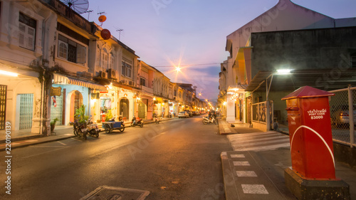 Obraz na plátně Talang Road, The old phuket town, Thailand