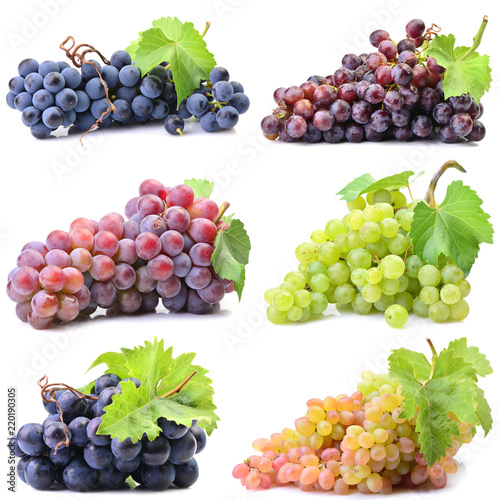 Grapes on a white background Fototapete