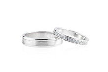 Silver Wedding Rings Isolated ...