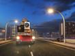 Umzug mit rotem Kleinwagen - Von der Stadt aufs Land