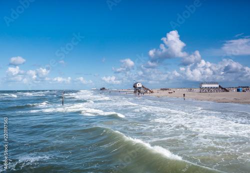 Fotografia, Obraz  Wellen am Strand von St. Peter-Ording