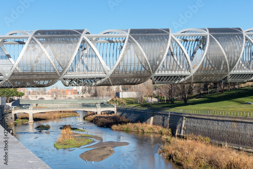 Arganzuela Bridge over Manzanares river, Madrid, Spain Wallpaper Mural