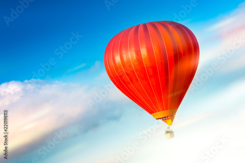 In de dag Ballon Beautiful balloons in the sky at sunset, Bali, Indonesia