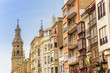 Cathedral and houses in the center of Logrono, Spain