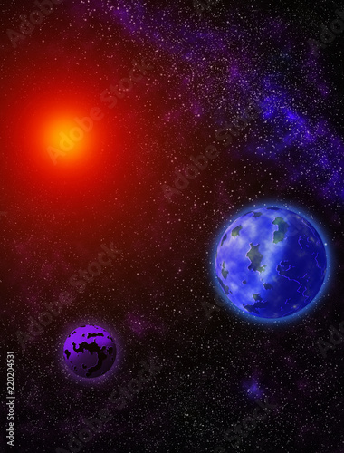 A Colorful Galaxy Of Beautiful Planets Magnetic Space Buy This Stock Illustration And Explore Similar Illustrations At Adobe Stock Adobe Stock