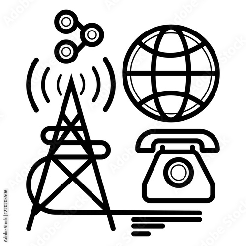radio tower broadcast icon vector - Buy this stock vector