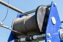 Metal Cable On The Winch Reel ...