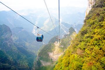 Mountain landscape of zhangjiajie national park, china