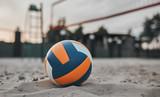 Volleyball ball on playground
