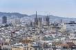 Barcelona sky views church