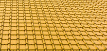 Modern Yellow Gold Glossy Rooftop Tiling Texture Background