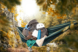 Fototapeta Fototapety na ścianę - hammock and autumn trip in mountains