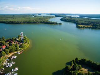 Wdzydze Kiszewskie z lotu ptaka jezioro kaszuby
