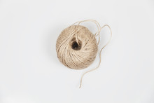 Roll Of Twine Cord Isolated On...