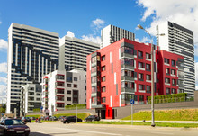 Residential Complex With New Apartment Buildings. Moscow. Russia.