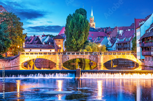 Night view of Nurnberg, Germany