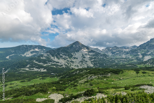 Spoed Foto op Canvas Bleke violet Scenery summer landscape, Pirin Mountain, Bulgaria.