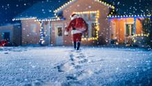 Low Angle Shot Of Santa Claus ...