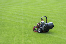 Mowing Grass At The Football S...